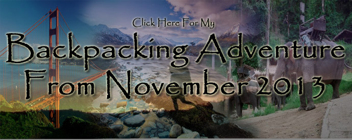 Backpacking adventure banner