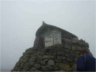 the hut top